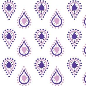 paisley raindrops - purple passion