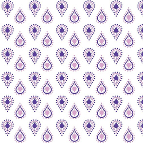 paisley raindrops - SMALL purple passion