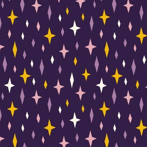 Unicorn stars sky purple dark