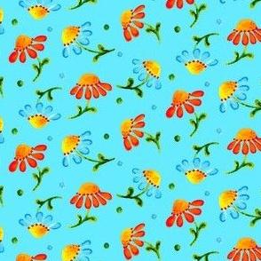 Daisies_Aqua
