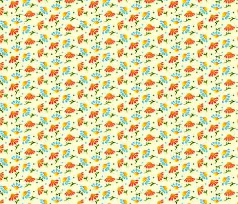 Daisies_Cream fabric by beebumble on Spoonflower - custom fabric
