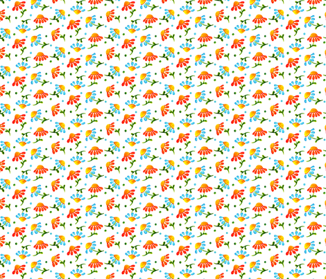 Daisies_White fabric by beebumble on Spoonflower - custom fabric