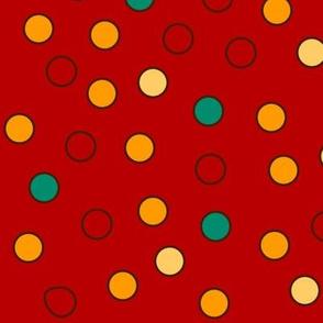 MOD Red Blue Polka Dots