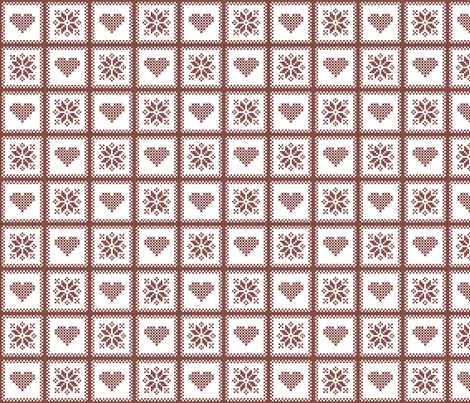 hearts and poinsettias red/wht fabric by verergmatltd on Spoonflower - custom fabric
