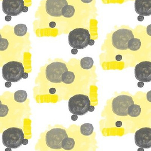 Yellow with grey bubbles