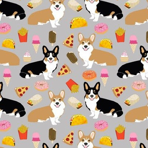 corgi junk food cute corgis fries pizza tacos cute junk food dogs