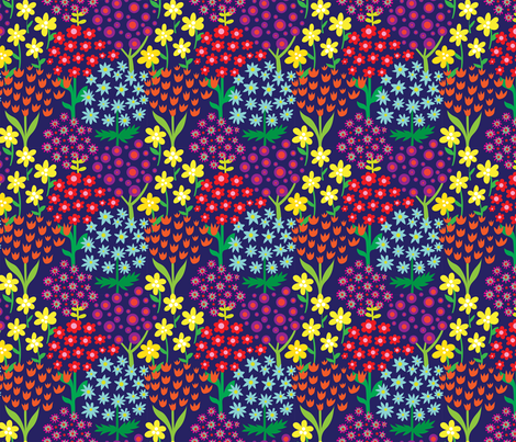 flowergarden fabric by kateaustindesigns on Spoonflower - custom fabric