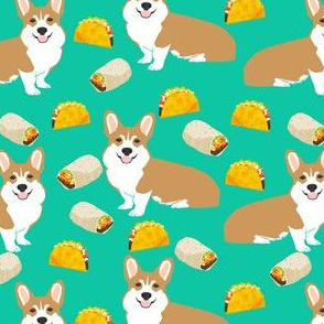 corgi taco burrito dogs fabric cute corgis dogs fabric dog fabric