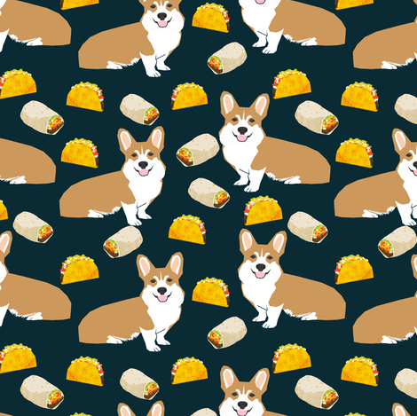 corgi taco burrito corgis cute dog food cute dogs fabric fabric by petfriendly on Spoonflower - custom fabric