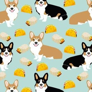 corgi tacos corgi burritos dog fabric cute dogs design best corgis fabric