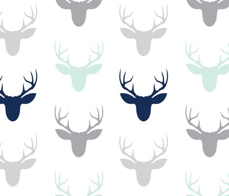 bucks_mist-01 fabric by graceandcruzdesigns on Spoonflower - custom fabric