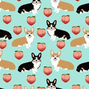 corgis cute peach emoji corgi fabric cute corgi design