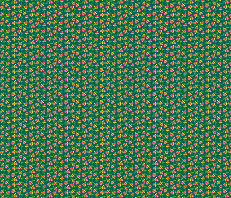 Tiny_Sunflowers_Green fabric by beebumble on Spoonflower - custom fabric