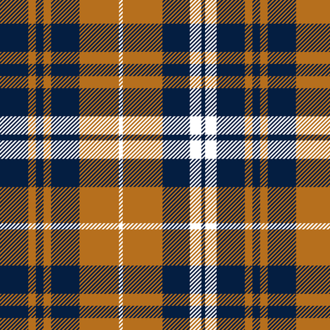 fall plaid || cider and navy fabric by littlearrowdesign on Spoonflower - custom fabric