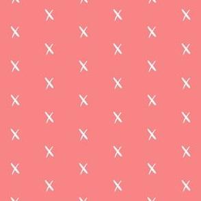 x coral pantone x fabric cute x fabrics swiss cross nursery baby