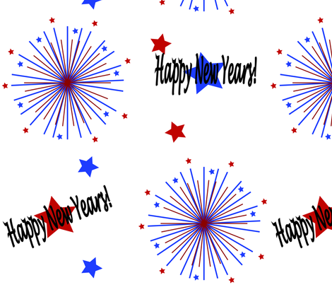 Happy New Years - Big fabric by mlc13 on Spoonflower - custom fabric