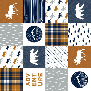 the happy camper wholecloth(90) || navy & cider