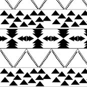 B & W Aztec Pattern - Big