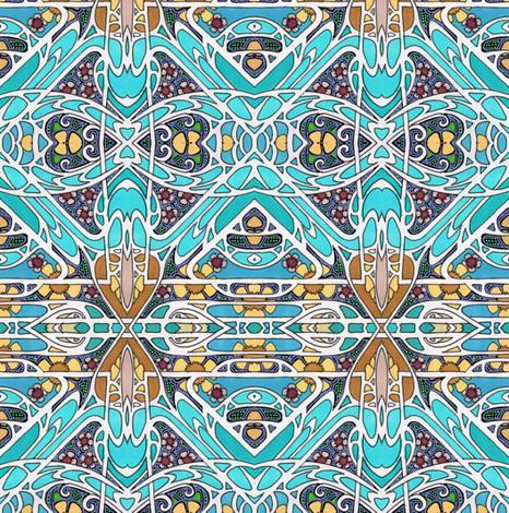 Heart Nouveau fabric by edsel2084 on Spoonflower - custom fabric