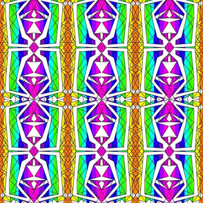 Art Deco Glass- Rainbow