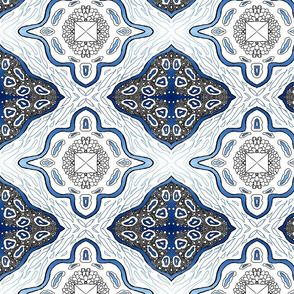Medallion Waves-Blue