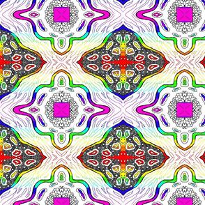 Medallion Waves- Rainbow