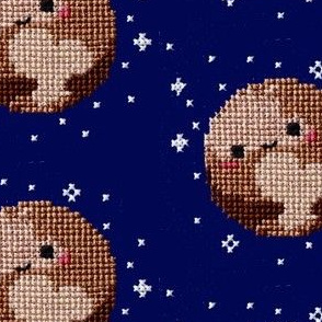 Cross Stitched Pluto Loves You