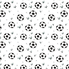 Soccer ball fun sports illustration design grass boys white SMALL