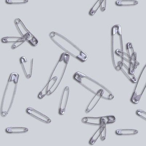 safety pins for solidarity - gray