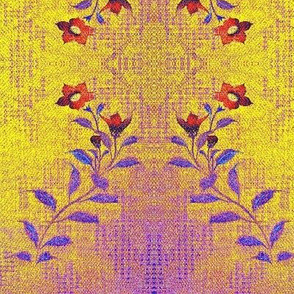 Flowers and Lace - LG - purple, yellow, red, blue-ed