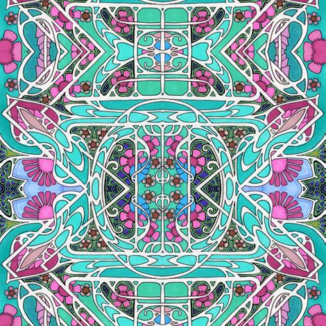 When the Colors Scream fabric by edsel2084 on Spoonflower - custom fabric