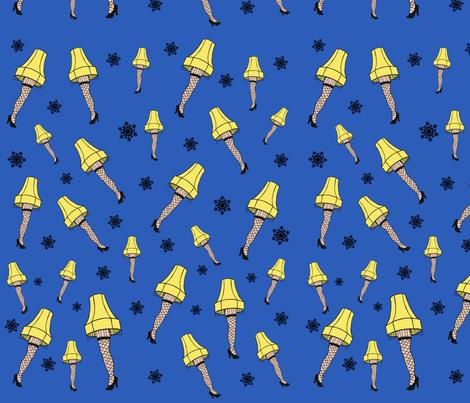 I Love Leg Lamp fabric by angiehiller on Spoonflower - custom fabric