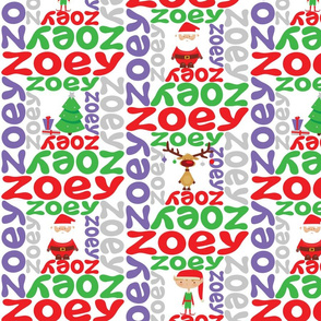 personalised name design - spiral with pic christmas
