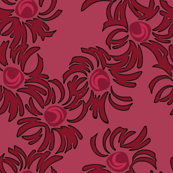 Asters-cranberry red