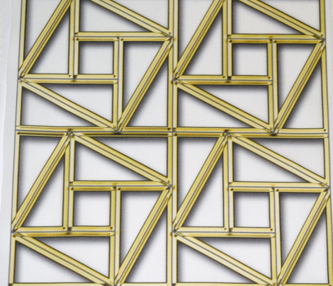Pythagorean Empty Frames with fake gold