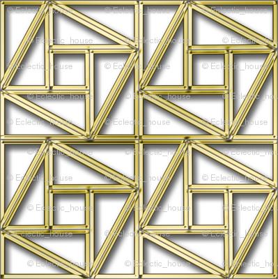Pythagorean Empty Frames with fake gold