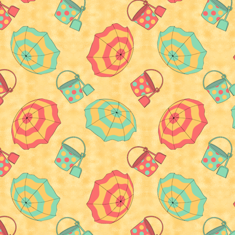 #SAGE Beach Umbrella fabric by karwilbedesigns on Spoonflower - custom fabric
