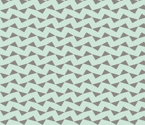 Tri Zag No. 6 - Taupe Triangles on Teal fabric by reachesfar on Spoonflower - custom fabric