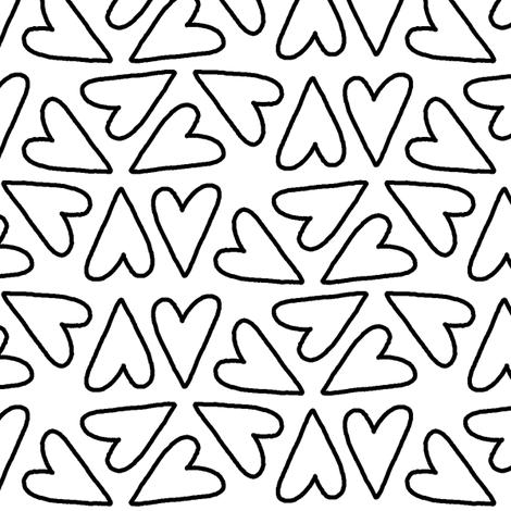 Hearts Hearts Hearts fabric by taraput on Spoonflower - custom fabric