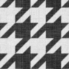 Houndstooth Check ~ Black and White ~ Flannel