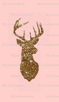 gold and pink deer