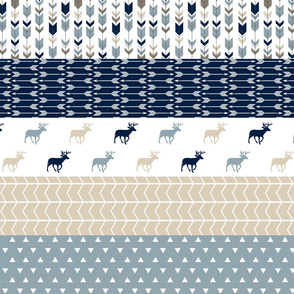 rustic woods wholecloth    strip quilt woodland deer