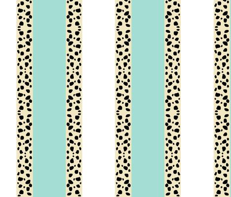 Cheetah Stripes VERTICAL  -  Mint Snow fabric by drapestudio on Spoonflower - custom fabric