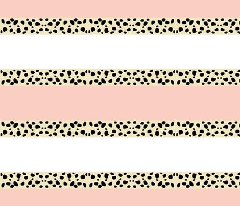 Cheetah Stripes Horizontal  -  Peach Snow fabric by drapestudio on Spoonflower - custom fabric