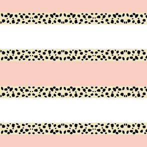 Cheetah Stripes Horizontal  -  Peach Snow