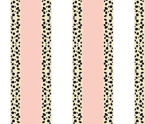 Cheetah Stripes Vertical -  Peach Snow fabric by drapestudio on Spoonflower - custom fabric