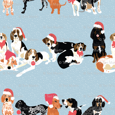 coonhound-christmas-pattern