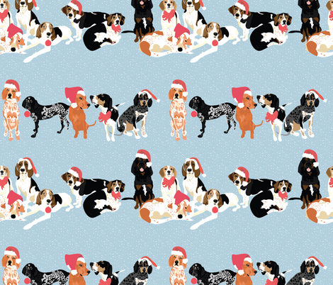 coonhound-christmas-pattern fabric by vieiragirl on Spoonflower - custom fabric