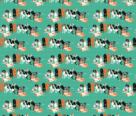 coonhound-row fabric by vieiragirl on Spoonflower - custom fabric