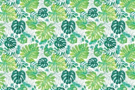 Rrrrrrrrmonstera_pattern_blue_fabric_shop_preview